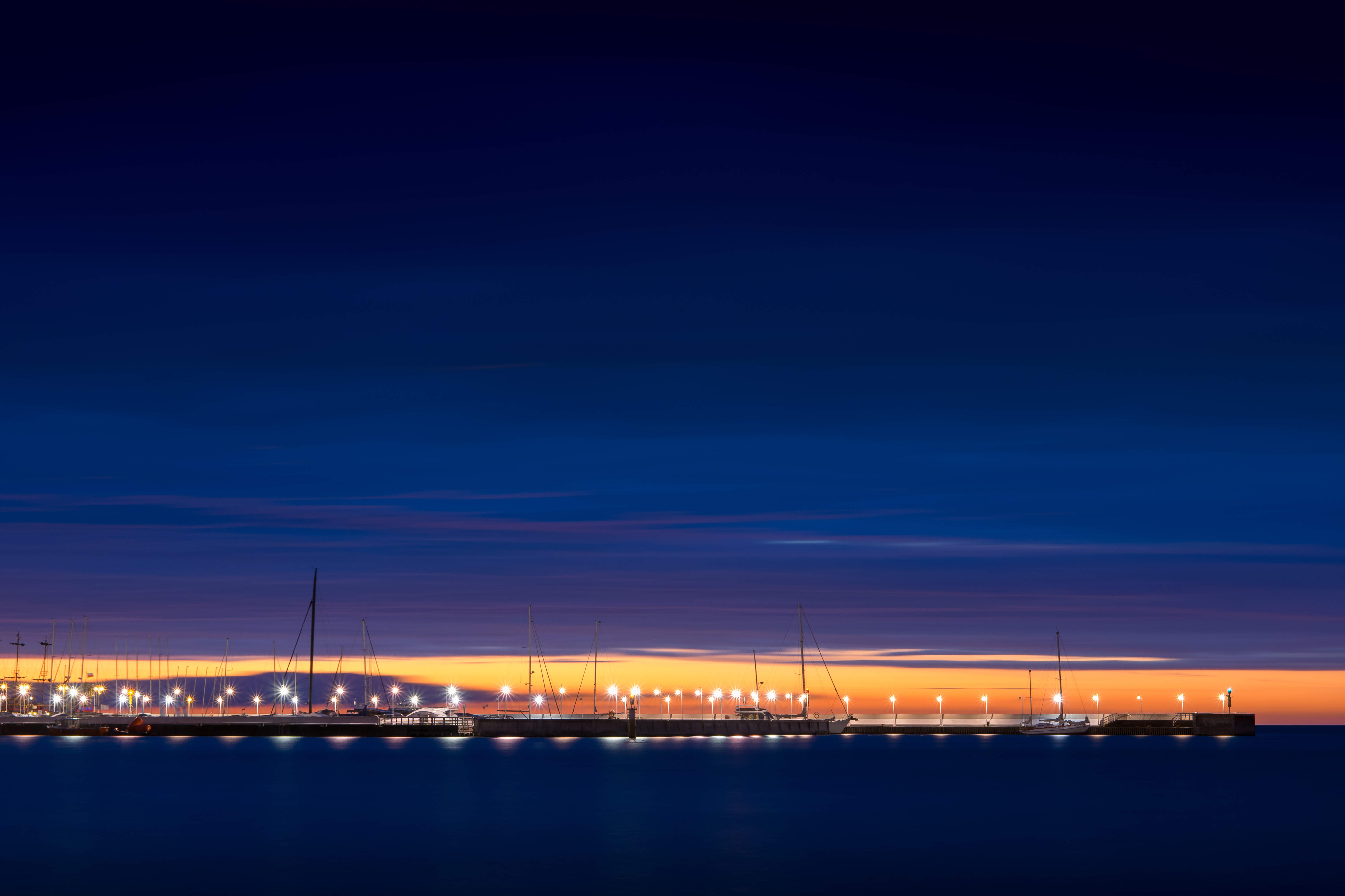 Sopot pier at night.